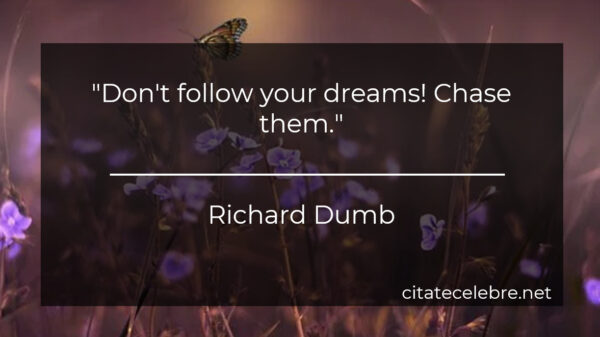"""Don't follow your dreams! Chase them."""